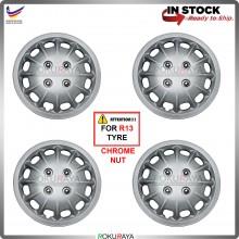 4in1 Universal R13'' Inch Car Wheel Cover Tyre Center Hub Cap Steel Rim (MARK1)