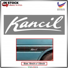 KANCIL (5inch x 1.5inch) Original Perodua Sticker White Emblem Logo Badge Sticker Decals Vinyls Car Accessories Parts