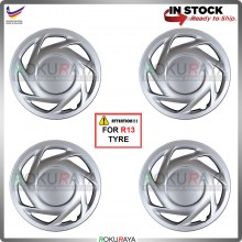 4in1 Universal R13'' Inch Car Wheel Cover Tyre Center Hub Cap Steel Rim Accessories Parts (Proton Wira New)