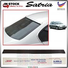Proton Satria Old MDM JD2 PU Rubber Getah Wing Glass Spoiler Rear Windscreen Black