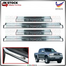 [BESI] Hilux SR Turbo 166 165 Stainless Steel Chrome Side Sill Kicking Plate Garnish Moulding Cover Trim Car Accessories