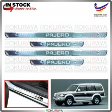 [BESI] Mitsubishi Pajero V30 V40 Stainless Steel Chrome Side Sill Kicking Plate Garnish Moulding Cover Trim Car
