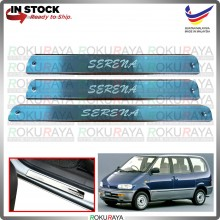 [BESI] Nissan Serena C23 Old Stainless Steel Chrome Side Sill Kicking Plate Garnish Moulding Cover Trim Car Accessories