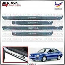 [BESI] Naza Kia Spectra Sephia Stainless Steel Chrome Side Sill Kicking Plate Garnish Moulding Cover Trim Car