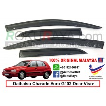 Daihatsu Charade Aura (3rd Gen) 1987-1993 AG Door Visor Air Press Wind Deflector (Small 7cm Width)