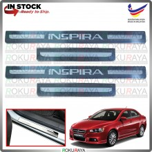 [BESI] Proton Inspira Stainless Steel Chrome Side Sill Kicking Plate Garnish Moulding Cover Trim Car Accessories