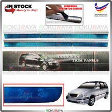 [BESI] Naza Ria Kia Carnival Stainless Steel Side Door Moulding Garnish Body Lining Panel Car Accessories Local Parts