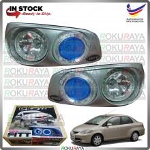 [FITT858 THAILAND] Honda City SEL 2002-2005 Angle Eyes Halo Spotlight Fog Lamp Original Bumper Car Accessories Parts