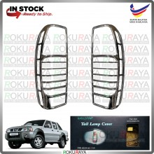 [CHROME] Nissan Frontier D22 WELLSTAR ABS Plastic Rear Tail Lamp Garnish Moulding Cover Trim Car Accessories Local Parts