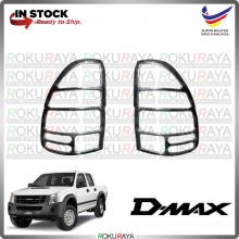 [CHROME] Isuzu Dmax Old 2002-2012 WELLSTAR ABS Plastic Rear Tail Lamp Garnish Moulding Cover Trim Car Accessories Parts
