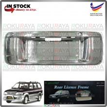 [CHROME] Toyota Unser (All Model) JDM ABS Plastic Rear Bonnet Number Plate Holder Frame Garnish Moulding Cover Trim Car
