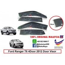 Ford Ranger T6 T7 4Door 2012-present AG Door Visor Air Press Wind Deflector (Extra Big 16cm Width)