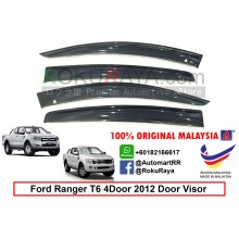 Ford Ranger T6 T7 4Door 2012-present AG Door Visor Air Press Wind Deflector (Big 12cm Width)