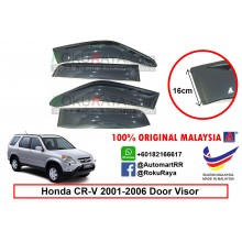 Honda CR-V CRV RD4-RD9 ( 2nd Gen ) 2001–2006 AG Door Visor Air Press Wind Deflector (Extra Big 16cm Width)