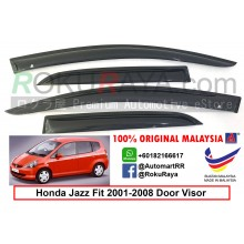 Honda Jazz ( 1st Gen ) 2001–2008 AG Door Visor Air Press Wind Deflector (Small 7cm Width)