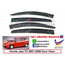 Honda Jazz ( 1st Gen ) 2001–2008 AG Door Visor Air Press Wind Deflector (Big 12cm Width)