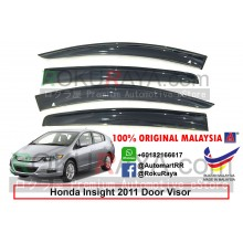 Honda Insight Hybrid ( 2nd Gen ) 2009–2014 AG Door Visor Air Press Wind Deflector (Big 12cm Width)