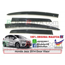 Honda Jazz ( 3rd Gen ) 2013 AG Door Visor Air Press Wind Deflector (Flat 10cm Width)