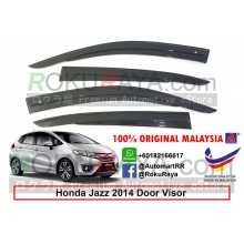 Honda Jazz ( 3rd Gen ) 2013 AG Door Visor Air Press Wind Deflector (AG Mugen Design)