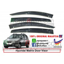 Hyundai Inokom Matrix 2001-2011 AG Door Visor Air Press Wind Deflector (Big 12cm Width)