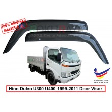 Hino Dutro U300 U400 series 1999-2011 AG Door Visor Air Press Wind Deflector (Big 12cm Width)