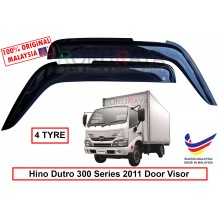Hino Dutro 300 Series 2011 (4 Tyre) AG Door Visor Air Press Wind Deflector (Big 12cm Width)