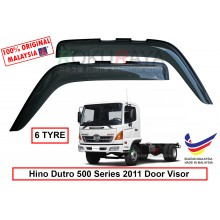 Hino Dutro 300 500 Series 2011 (6 Tyre) AG Door Visor Air Press Wind Deflector (Big 12cm Width)
