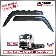 Hino Dutro 700 series 2011 (12 Tyre) AG Door Visor Air Press Wind Deflector (Big 12cm Width)