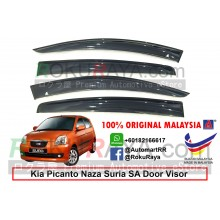 Kia Picanto Naza Suria SA (1st Gen) 2004–2011 AG Door Visor Air Press Wind Deflector (Big 12cm Width)