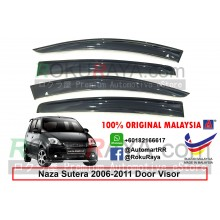 Naza Sutera 2006-2011 AG Door Visor Air Press Wind Deflector (Big 12cm Width)