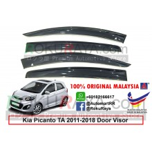 Kia Picanto TA (2nd Gen) 2011-2017 AG Door Visor Air Press Wind Deflector (Big 12cm Width)