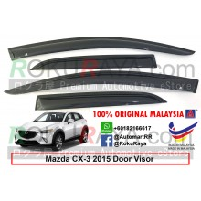 Mazda CX3 CX-3 (1st Gen) 2015 AG Door Visor Air Press Wind Deflector (Medium 8cm Width)