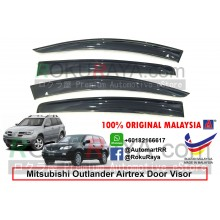 Mitsubishi Outlander Airtrek 2001-2008 (1st Gen) 2001-2008 AG Door Visor Air Press Wind Deflector (Big 12cm Width)