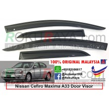 Nissan Cefiro Maxima A33 1998–2003 AG Door Visor Air Press Wind Deflector (Small 7cm Width)
