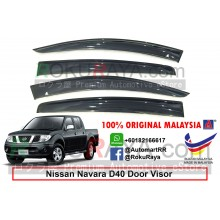 Nissan Navara 4Door D40 (2nd Gen) 2004-2015 AG Malaysia Door Visor Air Press Wind Deflector (Big 12cm Width)