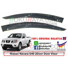 Nissan Navara 2Door (2nd Gen) D40 2004-2015 AG Door Visor Air Press Wind Deflector (Big 12cm Width)