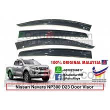 Nissan Navara NP300 D23 4Door (3rd Gen) 2015 AG Door Visor Air Press Wind Deflector (Big 12cm Width)