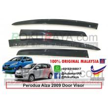Perodua Alza 2009 AG Door Visor Air Press Wind Deflector (Flat 10cm Width)