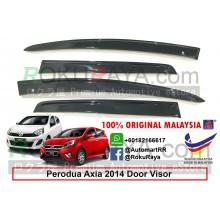 Perodua Axia 2014 AG Door Visor Air Press Wind Deflector (Flat 10cm Width)