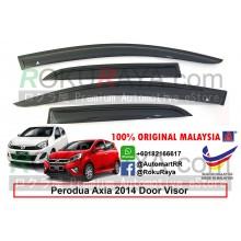 Perodua Axia 2014 AG Door Visor Air Press Wind Deflector (Small 7cm Width)