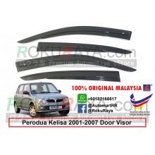 Perodua Kelisa 2001-2007 AG Door Visor Air Press Wind Deflector (AG Mugen Design)