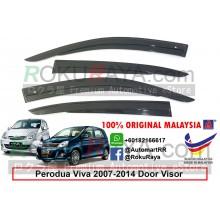 Perodua Viva 2007-2014 AG Door Visor Air Press Wind Deflector (AG Mugen Design)
