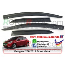 Peugeot 208 2012 AG Door Visor Air Press Wind Deflector (Medium 8cm Width)