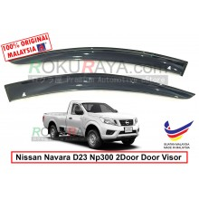 Nissan Navara NP300 D23 2Door (3rd Gen) 2015 AG Door Visor Air Press Wind Deflector (Big 12cm Width)