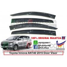 Toyota Innova AN140 (2nd Gen) 2016 AG Door Visor Air Press Wind Deflector (Big 12cm Width)
