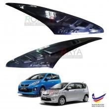 Perodua Alza Custom Fit ABS Plastic Car Head Lamp Eyelid Eye Lid Brow Cover