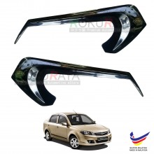 Proton Saga FL FLX SV PLUS (2010-2016) Custom Fit ABS Plastic Car Headlamp Head Lamp Eyelid Eye Lid Brow Cover