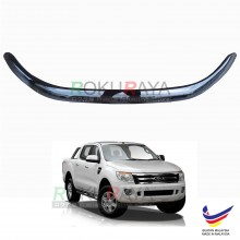 Ford Ranger (T6 2012 Model Only) OEM Front Hood Protector Bonnet Bug Visor Guard Cover With Brackets And Clips - Black