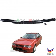 Proton Saga Iswara (1st Gen) 1985-2008 Front Hood Protector Bonnet Bug Visor Guard Cover With Brackets And Clips (Black)
