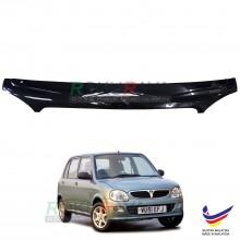 Perodua Kelisa (2001-2007) Front Hood Protector Bonnet Bug Visor Guard Cover With Brackets And Clips (Black)